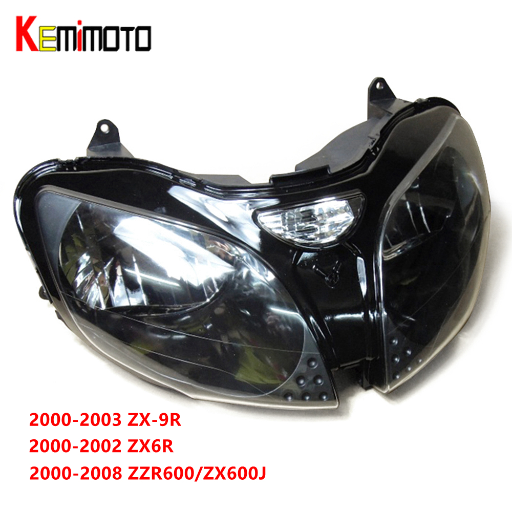 Phare de moto Pour Kawasaki NINJA ZX6R ZX-6R 2000-2002 ZX9R ZX-9R 2000-2003 ZZR600 2005-2008 Avant lampe frontale logement