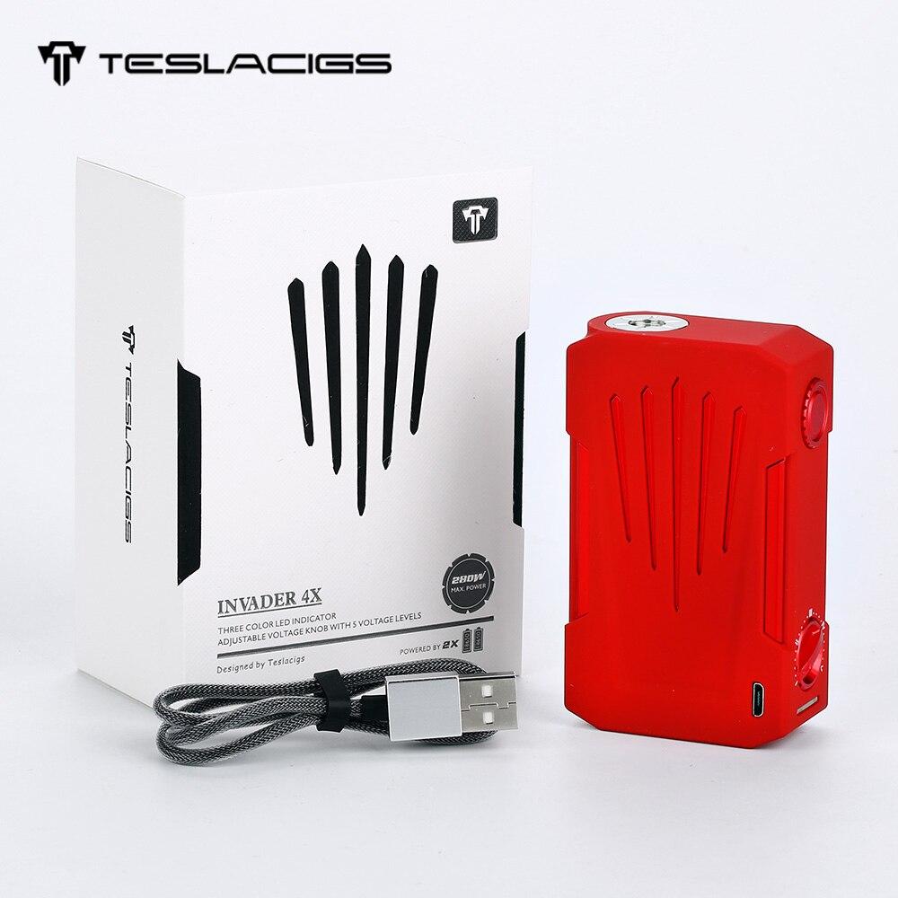 100% Original Tesla Invader 4X VV boîte MOD pour Invader 4X Kit sur bouffant protection réglable tension E-Cigarette Vaping Mod