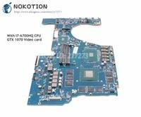 NOKOTION 862263 601 862263 001 G38D DAG38DMBCC0 основная плата для hp OMEN 17 W 17 W151NR Материнская плата ноутбука I7 6700HQ Процессор GTX 1070