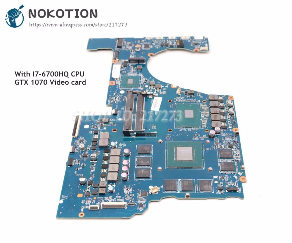 NOKOTION 862263-601 862263-001 G38D DAG38DMBCC0 MAIN BOARD For HP OMEN 17-W 17-W151NR Laptop Motherboard I7-6700HQ CPU GTX 1070