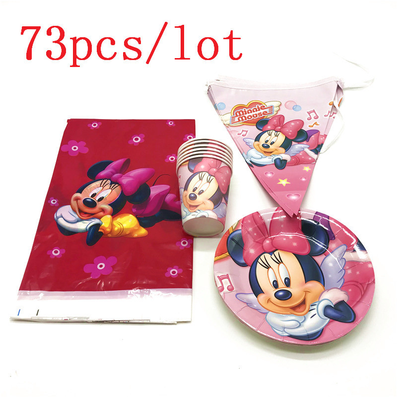 High Quality 73Pcs/lot Mickey Mouse Cartoon Cup+Plate+Tablecover Wedding Birthday Party Baby Shower Banner Decoration SupplyHigh Quality 73Pcs/lot Mickey Mouse Cartoon Cup+Plate+Tablecover Wedding Birthday Party Baby Shower Banner Decoration Supply