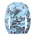 2016 мужская нового способа прибытия О-Образным Вырезом печатных согреться высокое качество 95% шерстяной свитер, 2 цвет, M, L. XL. XXL.