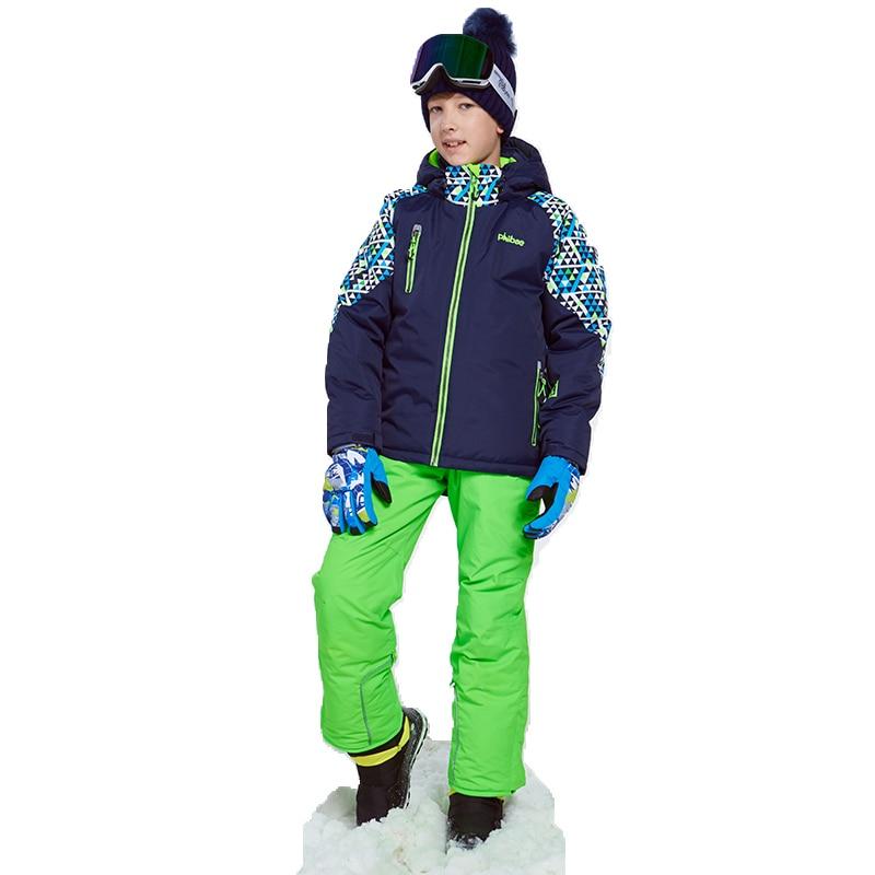 2019 Inverno Sci Vestiti per I Ragazzi di Giubbotti Tute e Salopette Bambini Da Neve Set Da Snowboard Impermeabile Per Bambini Vestiti Da Snowboard