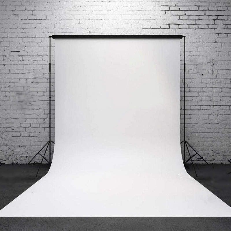 Onsale 1pc 3x5ft Pure White Backdrop Lightweight Vinyl White Wall Photography Background Photo Studio Props Mayitr 3x5ft colorful photography backdrops photo wooden wall floor background studio props
