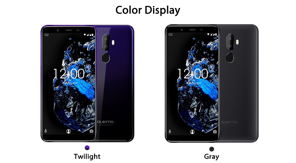 OUKITEL U25 Pro 5.5 2.5D Incell Display 13MP+2MP/5MP Android 8.1 Mobile Phone MT6750T Octa Core 4G 64G Fingerprint Smartphone