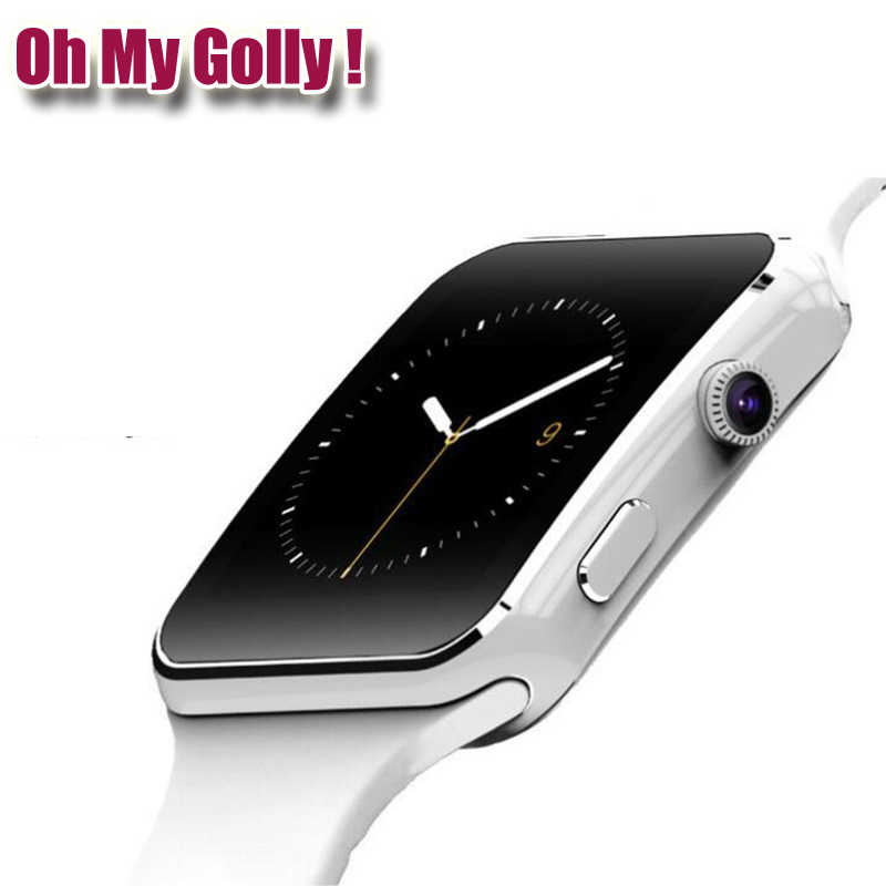 Oh My Golly Store New Arrival X6 Smart Watch with Camera Touch Screen Support SIM TF Card Bluetooth Smartwatch