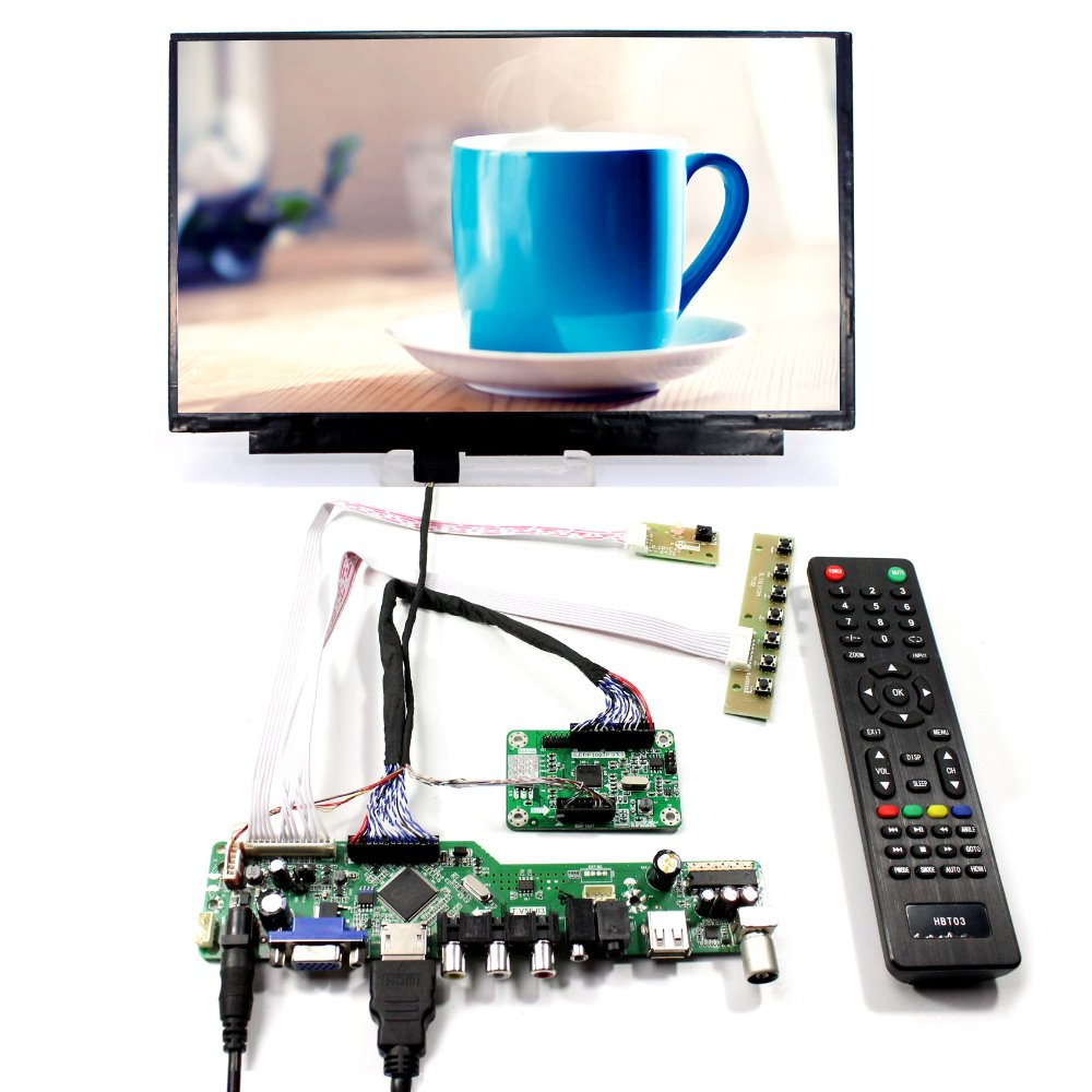 TV PC HDMI CVBS RF USB LCD Controller Board+11.6inch  N116HSE 1920x1080 IPS LCD Screen tv hdmi vga cvbs rf usb lcd controller board 15 lq150x1lg96 1024x768 lcd screen