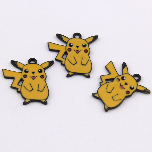 yage 24*16mm 100pcs fashion pokemon Pikachu charms,alloy enamel charms for diy