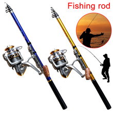 New Arrivals Portable 1.8/2.1/2.4/2.7/3.0m Carbon Sea Fishing Rod Telescopic for Spinning Reel Fish Pole Outdoor Fishing Tools