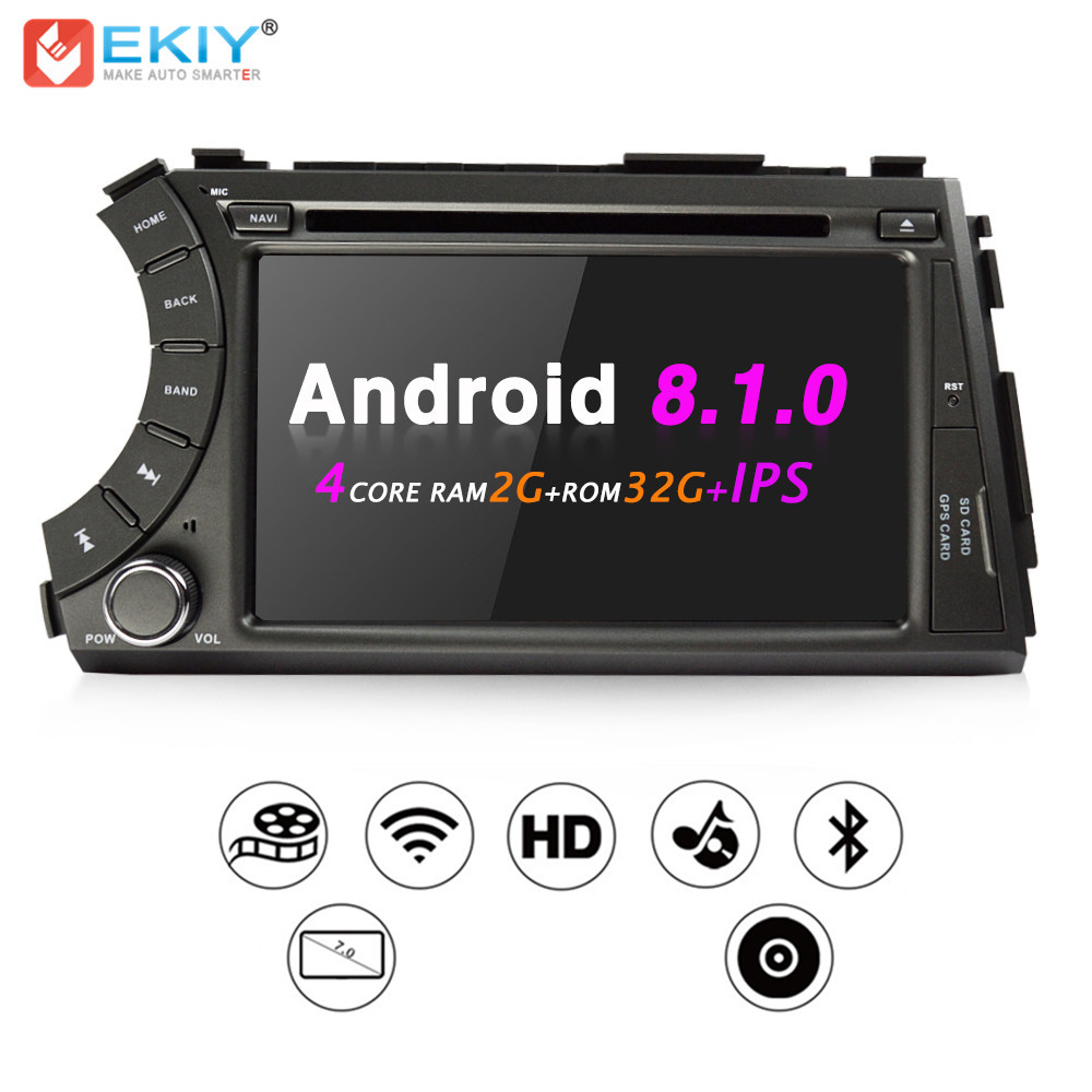 EKIY 7 Quad Core Android 8.1 2 Din Car Radio DVD Multimedia Player For Ssangyong Kyron Actyon GPS Navigation Bluetooth WifiEKIY 7 Quad Core Android 8.1 2 Din Car Radio DVD Multimedia Player For Ssangyong Kyron Actyon GPS Navigation Bluetooth Wifi