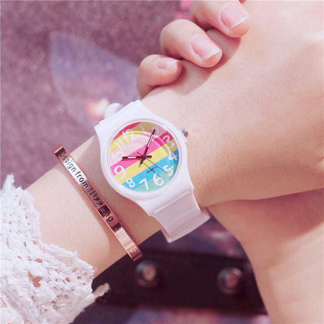 The Korean Version Fashion Simple Fresh Lovely Female Student Watch Children Ret