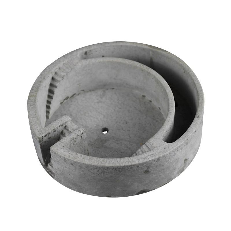 Nouveau Moule En Silicone pour le Béton Pot De Fleurs Moule Circulaire Forme Du Bâtiment Ciment Planteur Bonsaï Décoration Outils