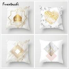 Золотое любовное сердце fubatacchi подушка скандинавский геометрический