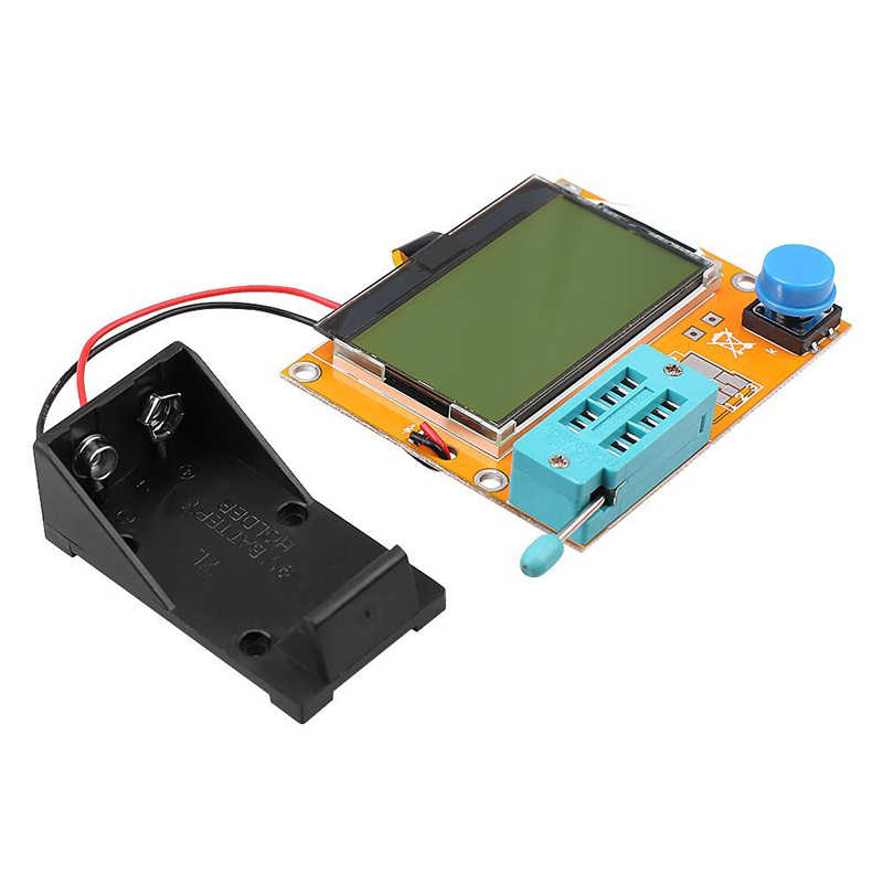 LCD Multimeter LCR-T4 ESR Meter mega328  M328 Transistor Tester for DIY Electronic Kit with Acrylic Case