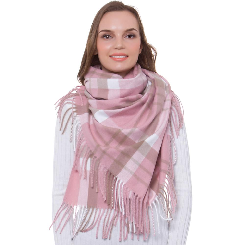 Tag Brand New Pink Star Print Soft Knitted Cashmere Tassel Scarf RRP £15.00