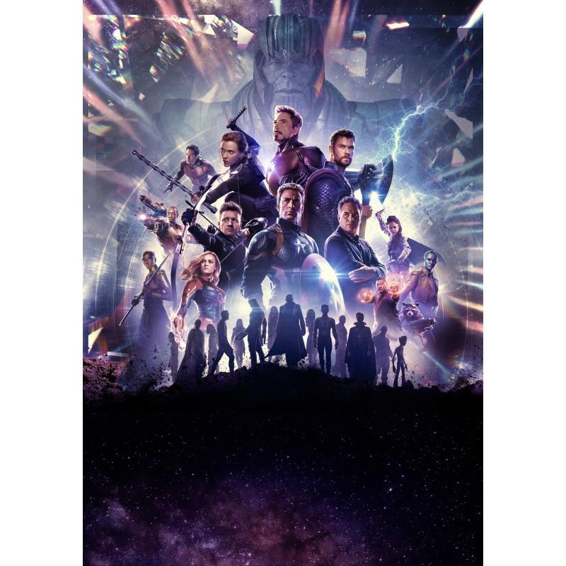 Мстители эндшпиль фильм железный человек Капитан Америка Холст плакат Декор печать живопись стены Искусство для бара кафе гостиная спальня - Цвет: 07