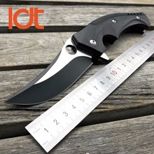 LDT Russian Dr Death Mayo Folding Blade Knife D2 Blade Titanium Handle Ball Bearing Flipper Camping Knives Outdoor Survival Tool