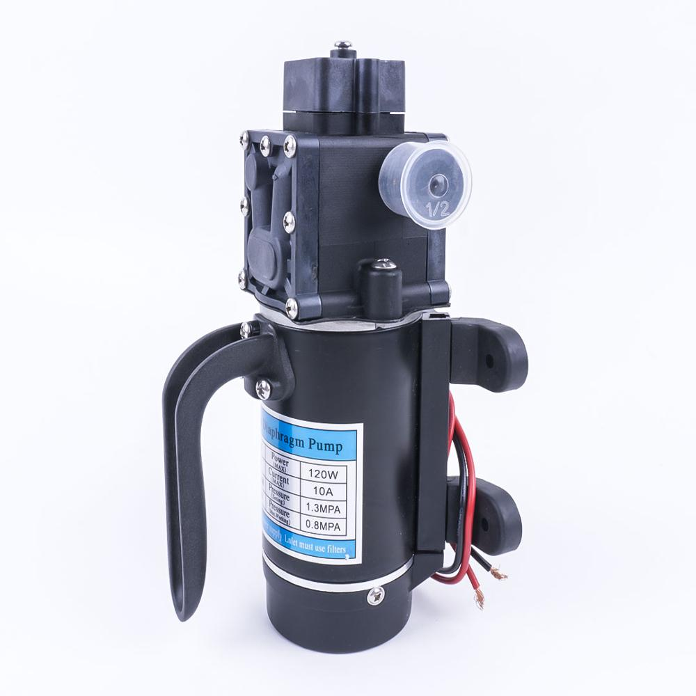 Electric 12V 120W 130PSI 10L / Min Water Film High Pressure Self Priming Pump Return Pump Backflow Control For Garden-in Pumps from Home Improvement
