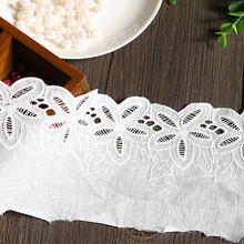 10CM Lace Accessories Cloth Material 3 YARD White Color Lace Cotton DIY Decoration Material Cord Lace Fabric white pp fluffy springback cotton non woven doll purse filling material diy manual material accessories