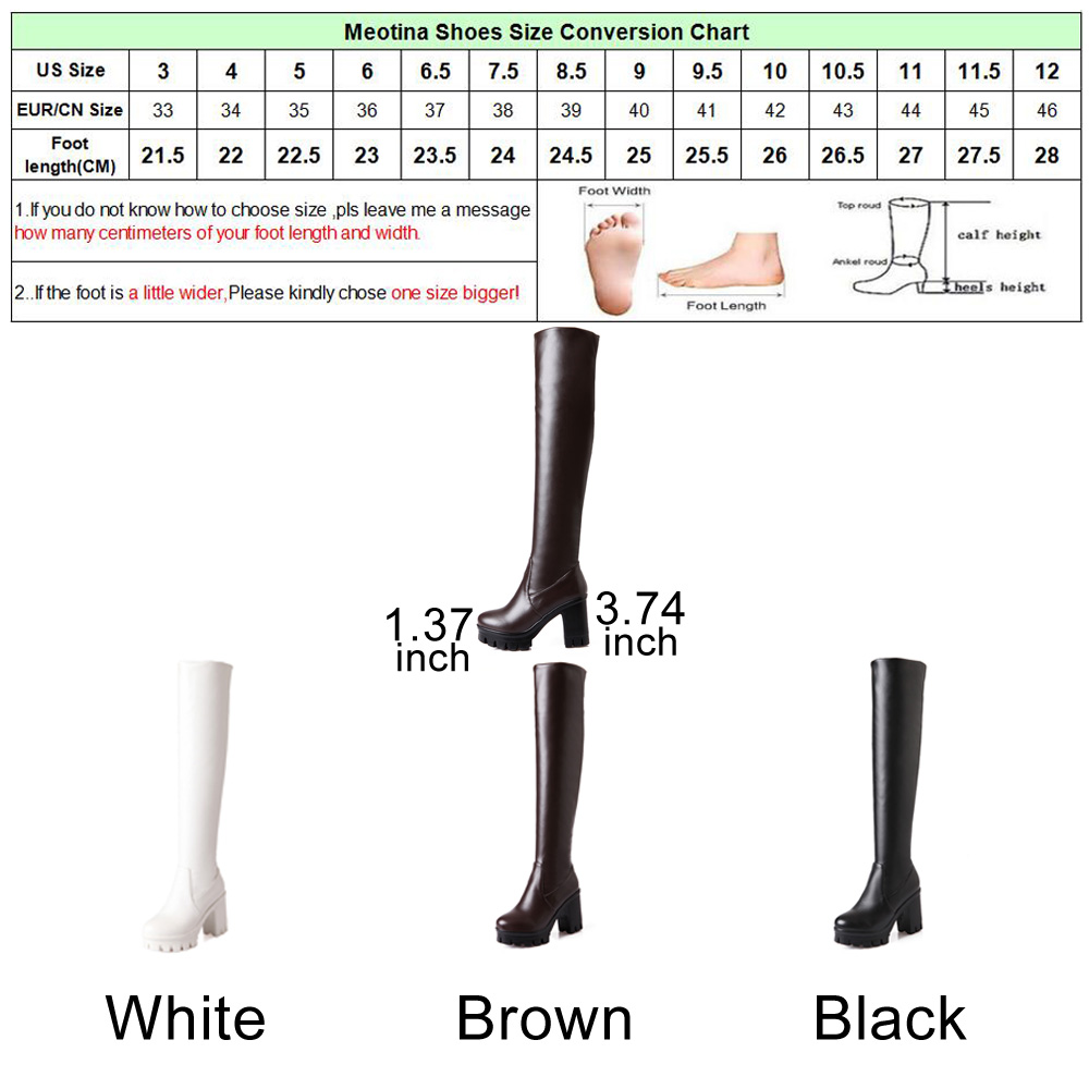 Aliexpress buy meotina winter platform high heel boots over aliexpress buy meotina winter platform high heel boots over the knee boots fur long thigh high boots women shoes white black big size 33 43 from nvjuhfo Images