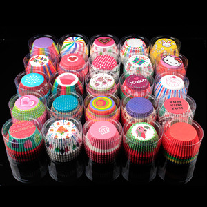 100PCS Color Printing Muffin Cases Paper Cups Cake Cupcake Liner Baking Mold Paper Cake Party Tray Cake Decorating Tool(China)