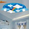 Los niños Llevaron Lámparas de Techo Dormitorio Habitación E27 Lamp110V-220V Niños Lámparas de Techo de Estilo Americano Retro Sombra De Acrílico Del Arco Iris Accesorios