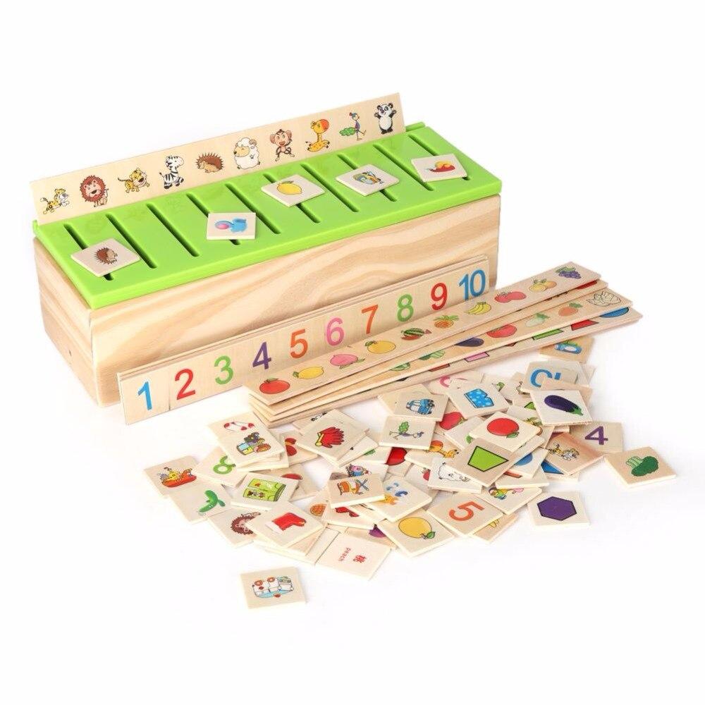 Novo conhecimento de madeira caixa classificação quebra-cabeça cedo brinquedos educativos geometria frutas animal cognitivo puzzle de madeira para crianças