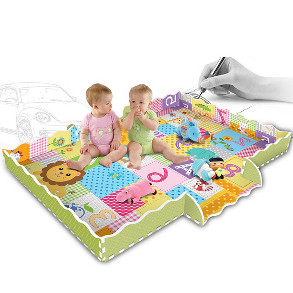 Tapis de motif Animal de bande dessinée pour enfants tapis de Puzzle en mousse EVA tapis de jeu pour enfants tapis de jeu pour enfants