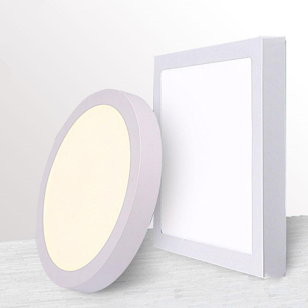 9 W/15 W/25 W cuadrado Led Panel de luz de superficie montado techo del Led Downlight AC85-265V + LED conductor envío gratis