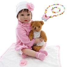 Muñeca NPK silicona Reborn Baby Dolls 22 pulgadas 55 cm realista adorable bebé niña reborn princesa l. o muñeca l para regalo de niños