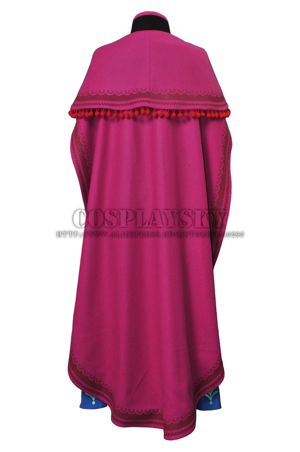 Frozen Anna Cosplay Costume Princess Anna Costume Set_03
