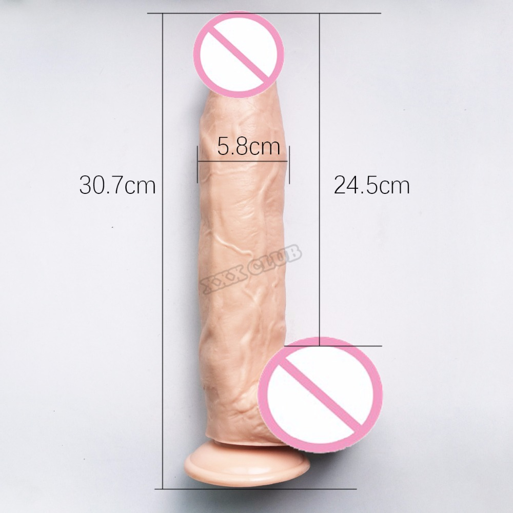 Theirry 12.09x2.36 inch Huge Dildo With Suction Cup for female masturbation Big Size Dong monster Penis vibrating Cock Sex Toys 1