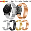 Watch Band Luxurious 20mm Easy Fit Wristband For Garmin Fenix 5S Watchband Strap Stainless Steel GPS