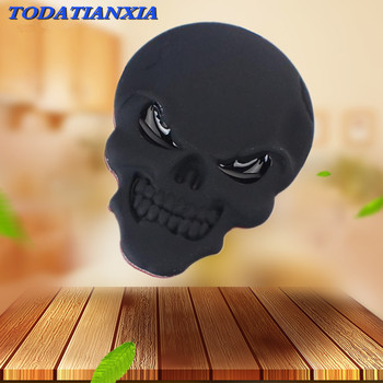 3D Metal Skull Car Sticker Logo Emblem Badge for bmw e60 suzuki gsr 600 seat ibiza radio citroen xsara bmw e90 tiguan 2017 image