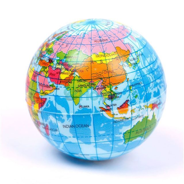 Lim eva world atlas geography map earth globe stress relief bouncy lim eva world atlas geography map earth globe stress relief bouncy foam ball kids toy gumiabroncs Image collections