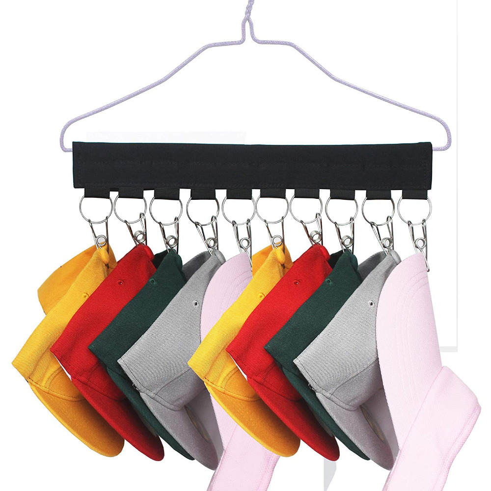 Baseball Cap Organizer Hanger , Baseball Cap Holder , Hat Organizer - Change Your Ordinary Hanger To Cap Organizer Hanger