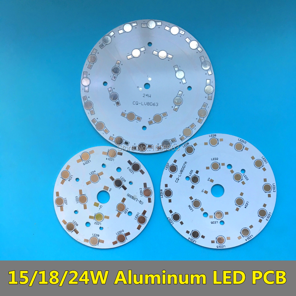 10 PCS 15W 18W 24W LED High Power PCB Lumen empty Board Aluminum Heatsink Round Base for LED Buld Down Ceiling Grow Lamp
