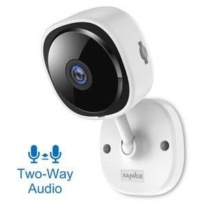 Image 2 - SANNCE HD 1080P Fisheye IP Camera Wireless Wifi Mini Network Camara Night Vision IR Cut Home Security Camara Wi Fi Baby Monitor