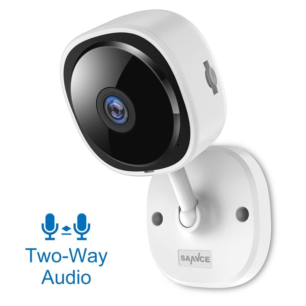 Image 2 - SANNCE HD 1080P рыбий глаз IP камера беспроводная Wi Fi Мини Сеть Камара ночного видения IR Cut домашняя камера безопасности Wi Fi радионяня-in Камеры видеонаблюдения from Безопасность и защита