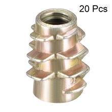 Uxcell 20pcs M4 M5 M6 Bronze Tone Zinc Alloy Hex-Flush Threaded Insert Furniture Nuts Wood Nut High Quality