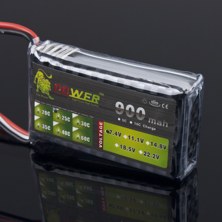 1pcs Lion Power 2S 7.4V 900MAH 25C lipo battery for RC Car Airplane Helicopter nvision lipo 7 4v 2s 30c 900 mah nvo1801