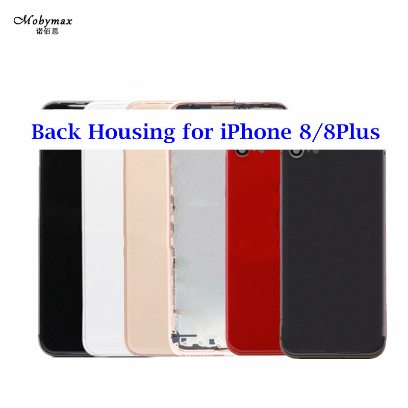 Chassis Back Housing for Apple iPhone 8 8 plus Battery Cover Fundas Rear Door Frame Assembly+LOGO&Buttons&Sim Tray+Sticker+Tool