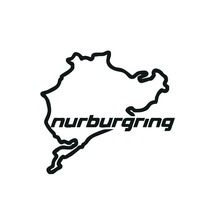 1Pcs 14*12.5CM Nurburgrig racing track body car sticker for ford Motorcycle car accessories vinyl window wall car Decals for BMW