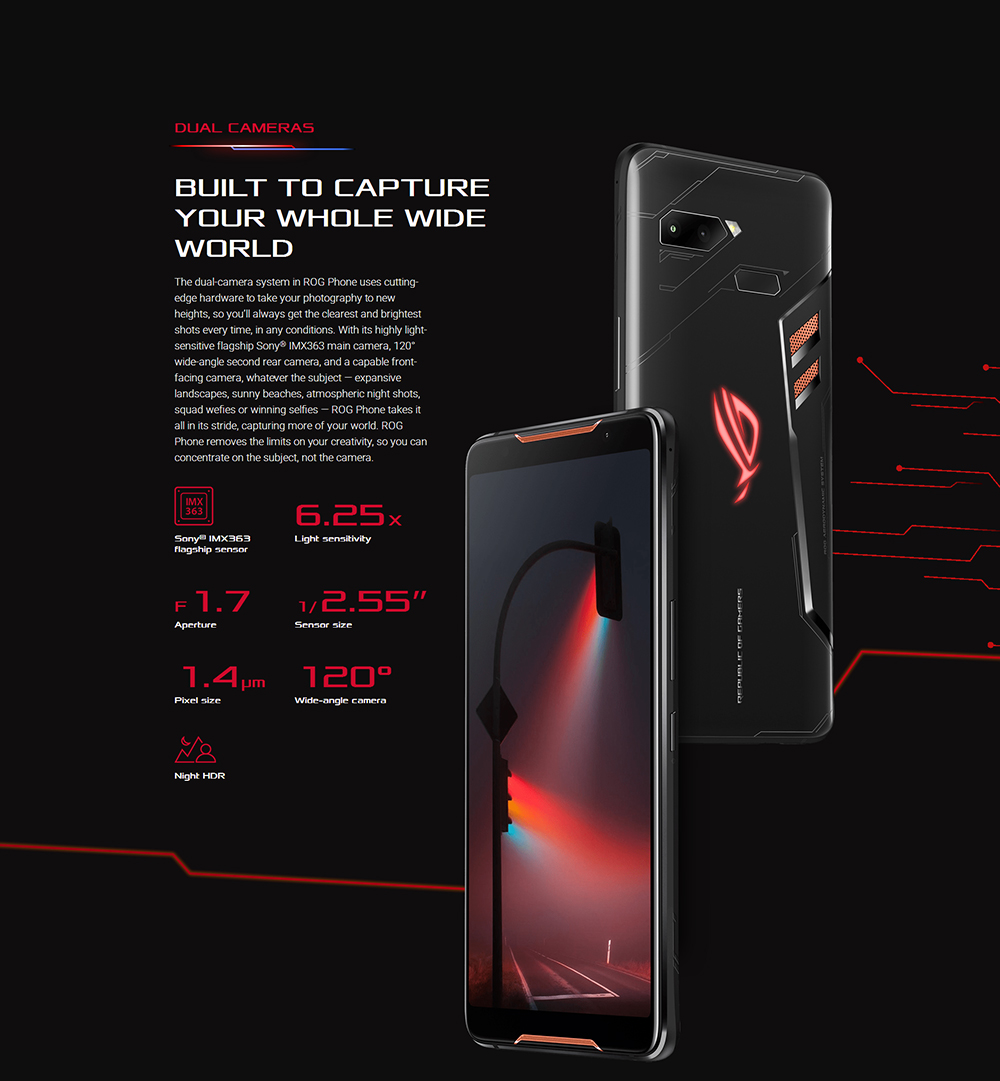 "ASUS ROG Telephone ZS600KL 8GB RAM 128GB ROM Gaming Phone Snapdragon 845 2.96GHz 6.0""18:9 AMOLED Screen Android8.1 4000mAh OTA 56"