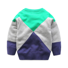 The diamond layer thick sweater boy 2016 new winter sweater all-match baby children's wear turtleneck sweater