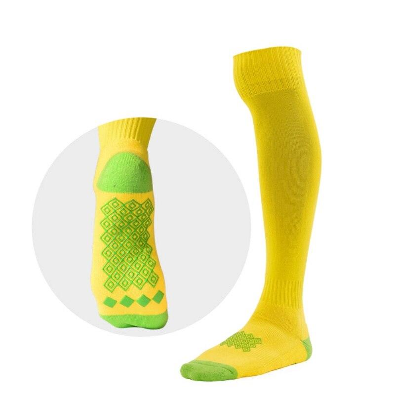 Эпоксидные Нескользящие амортизаторы дышащие полотенца спортивные Чулочно-носочные изделия на открытом воздухе мягкие эластичные влагостойкие спортивные футбольные высокие носки - Цвет: Цвет: желтый