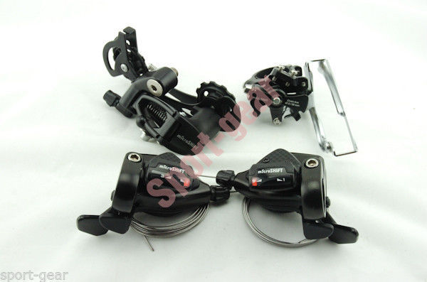 ФОТО Microshift 8 speeds Group Set MTB Mountain bike bicycle Shifter Front+Rear Derailleur bicycle parts TS-70-8 FD-M20 RD-R25L