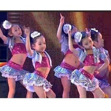 Girl latin dance skirt 2019 Children ballroom skirt  dance performance costumes kids Sequin jazz dance hip hop dance costumes boys modern jazz dancewear outfits kids hip hop party ballroom dance costumes sweatpants hoodie costumes tracksuit outfits