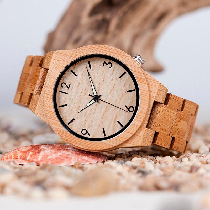 de madeira relógios masculinos com caixa de
