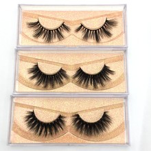Buzzme 20 Pairs Wholesale 12 Style Eyelashes Crisscross 3D faux Mink Lashes Handmade Eye lashes
